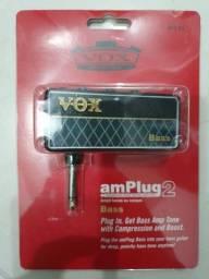 Amplificador de Fone de ouvido baixo Vox amplug bass