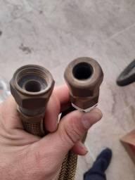 Mangueira para gás de cozinha revestida em aço 1mt