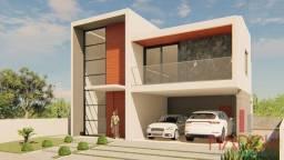 Vendo casa em construção com 4 suítes em condomínio, no Altiplano.