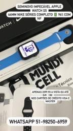 PROMOÇÃO MUNDICELL APPLE WATCH S5 44MM NIKE SÉRIES COMPLETO COM NF
