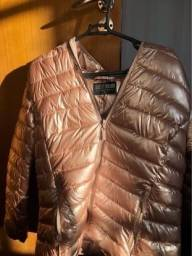 Casaco corta vento rosa, tamanho M