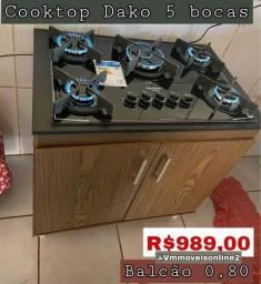 Cooktop Dako 5 Bocas Fazemos Entrega