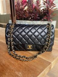 Bolsa Chanel 2.55 Flap Media em Couro