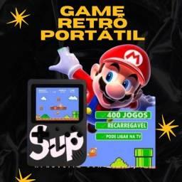 Game retrô portátil com 400 jogos / entrega imediata / garantia