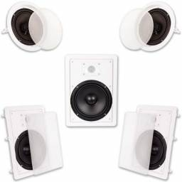 Kit caixas de som embutir Home Theater