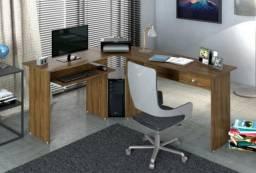 Mesa em L para escritório - Entrega grátis em Curitiba
