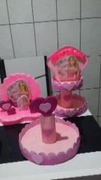 Decoração de mesa de aniversário Barbie linda