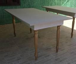 Mesa para 6 pessoas - Pés torneados
