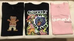 Camisetas Grizzly e Diamond
