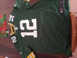 Camisa Aaron Rodgers Green Bay Packersfut americano