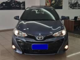 Toyota Yaris Xls 1.5 2018/2019, automático, teto solar, único dono, garantia de fábrica - 2019