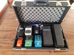 Set de pedais de efeito para guitarra
