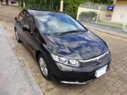 Lindo Honda Civic LXS - preto - 73.350 Km - Impecável - - 2013