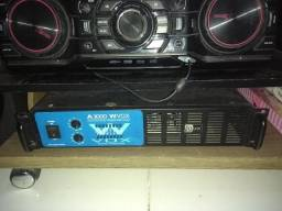 Amplificador Wvox Machine A3000 Potencia Muito novo !!!