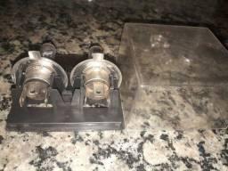 2 lâmpadas farol carro+buzina pra moto (novos)