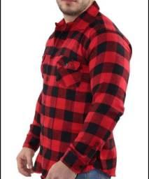 Camisa masculina xadrez flanela.