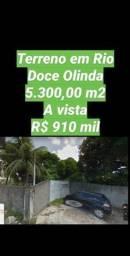 Terreno com 5.300,00 m2 em Rio Doce , excelente localização. Somente a vista R$ 910 mil