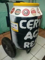 Barbada carrinho cooler