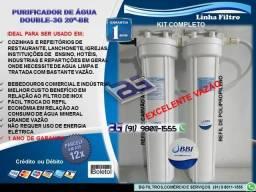 """Filtro Purificador Double 3G 20""""-BR-Entrega e Instalação Grátis"""