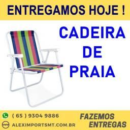 Cadeira de Praia Dobravel Alta Durabilidade Cadera Boa e Barata cuiaba