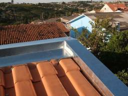 Manutenção de telhados, rufos, calhas e pingadeiras