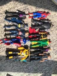 Bonecos e bonecas Super Heróis Marvel e DC (Mulher Maravilha + Homem)