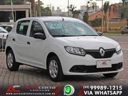 Renault SANDERO Authentique Flex 1.0 2019/2020 - UM DOS MAIS VENDIDOS