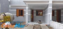 Casa gem. nova, no bairro Emboaba, c/ lage c/2 dorm. abrigo p/ car.