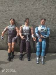 Bonecos Max Stell, Batman e Homem Aranha