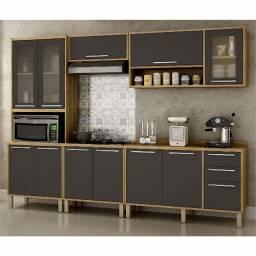 Título do anúncio: Cozinha Completa Paris com balcão cooktop - Entrega Grátis