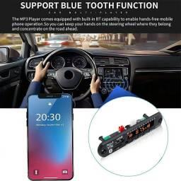 Placa de Áudio MP3 - Bluetooth - USB - Cartão de Memória - Auxiliar P2 - Som Automotivo