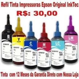 Tinta Epson Ink - 1 Ano de Garantia
