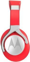 Fone de Ouvido Motorola Pulse Max Wired SH004 - com Fio - com Microfone - Vermelho