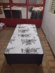 Cama Box Conjugado Casal Ortopédico Preto Oriental 45x138x188 Ducci
