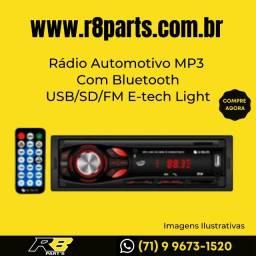 MP3 Rádio Automotivo Com Bluetooth USB/SD/FM E-tech Light