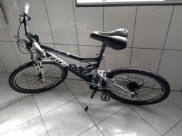 Bicicleta aro 26 aero Caloi KS alumínio Full suspension 21v
