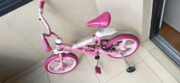 Bicicleta Aro 14 Infantil Princesas com Amortecedor Prox Metro Sacoma