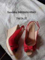 Sandália BARBARA KRÁS nova nunca usada TM/36.37