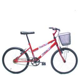 Bicicleta Infantil Aro 20 Com Cesta