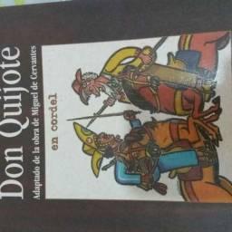 Don quijote adaptado de la obra de Miguel de Cervantes
