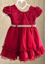 Vestido festa para bebê Tam 1
