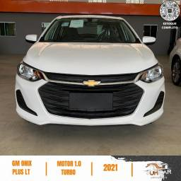 Chevrolet Onix Sedan Plus - LT - 0Km - 2021 - 1.0 Turbo Automático - Branco