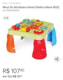 Mesa de atividades infantil NOVA na caixa lacrada