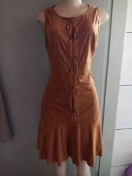 Vestido de camurça tamanho 40<br><br>