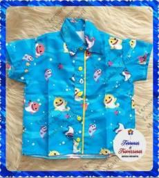 Camisa Baby Shark (1, 2 e 4 anos) A pronta Entrega