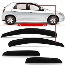 Calha Defletora de chuva Chevrolet Celta 4 Portas Topmix - Fácil instalação
