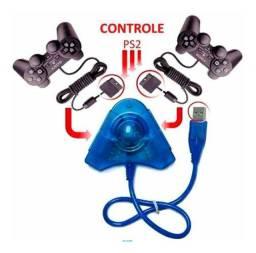 Adaptador Usb Duplo Controle Ps2 Ps1 Ligue No Pc