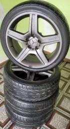 Jogo de Rodas Aro 18 Mercedes-Benz AMG