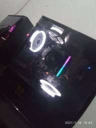 PC Gamer Ryzen 5 1600x + Gtx 1070 8gb com Monitor 144hz