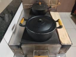 Panela de ferro fundido 5 litros usada